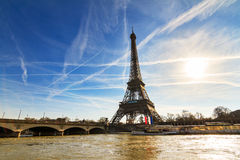 Σηκουάνας Άιφελ Παρίσι Στοκ Εικόνα