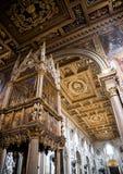 Σηκός στη βασιλική του ST John Lateran στη Ρώμη Ιταλία Στοκ εικόνες με δικαίωμα ελεύθερης χρήσης