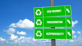 σημάδια ανακύκλωσης Στοκ Εικόνα
