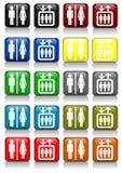 σημάδια ανελκυστήρων λο& Στοκ Φωτογραφίες
