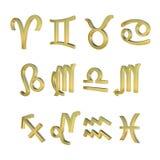 σημάδια δώδεκα zodiac Στοκ εικόνα με δικαίωμα ελεύθερης χρήσης