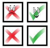 Σημάδια ελέγχου κινούμενων σχεδίων με τα πρόσωπα Στοκ φωτογραφία με δικαίωμα ελεύθερης χρήσης