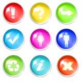 σημάδια κουμπιών Στοκ Εικόνες
