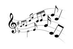 Σημάδια μουσικής φύλλων ως σύμβολο μελωδίας ελεύθερη απεικόνιση δικαιώματος
