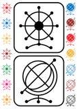 σημάδια ναυσιπλοΐας σφαιρών Στοκ εικόνες με δικαίωμα ελεύθερης χρήσης