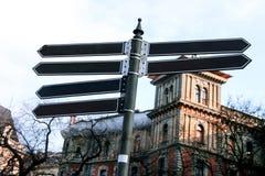 Σημάδια οδών στη Βουδαπέστη Στοκ εικόνα με δικαίωμα ελεύθερης χρήσης