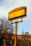 Σημάδια οδών στη Βουδαπέστη Στοκ φωτογραφία με δικαίωμα ελεύθερης χρήσης