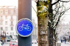 Σημάδια παρόδων ποδηλάτων Στοκ Φωτογραφίες