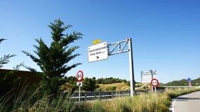 Σημάδια πληροφοριών σε μια εθνική οδό Στοκ φωτογραφίες με δικαίωμα ελεύθερης χρήσης
