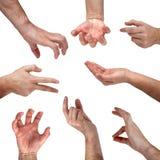 σημάδια συνόλου χεριών Στοκ φωτογραφία με δικαίωμα ελεύθερης χρήσης