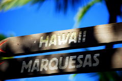 σημάδια της Χαβάης Στοκ εικόνες με δικαίωμα ελεύθερης χρήσης