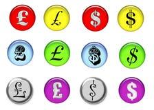 σημάδια χρημάτων Στοκ φωτογραφία με δικαίωμα ελεύθερης χρήσης
