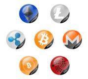 Σημάδια Cryptocurrencies Στοκ φωτογραφία με δικαίωμα ελεύθερης χρήσης
