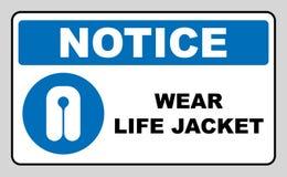 Σημάδι ένδυσης σακακιών ζωής ελεύθερη απεικόνιση δικαιώματος