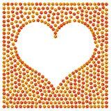 Σημάδι αγάπης καρδιών λουλουδιών Στοκ εικόνα με δικαίωμα ελεύθερης χρήσης