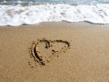σημάδι αγάπης καρδιών Στοκ Εικόνες