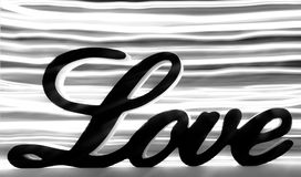 Σημάδι αγάπης με τα γραπτά λωρίδες Στοκ Εικόνες