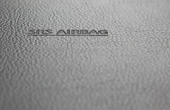 σημάδι αερόσακων srs Στοκ φωτογραφίες με δικαίωμα ελεύθερης χρήσης