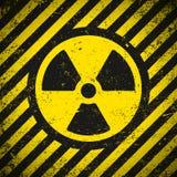 σημάδι ακτινοβολίας Στοκ Εικόνα