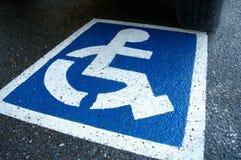 σημάδι αναπηρίας Στοκ φωτογραφία με δικαίωμα ελεύθερης χρήσης
