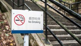 Σημάδι απαγόρευσης του καπνίσματος σε ένα πάρκο Στοκ Εικόνα