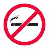 Σημάδι απαγόρευσης του καπνίσματος στο κόκκινο χρώμα - απεικόνιση Στοκ Εικόνες