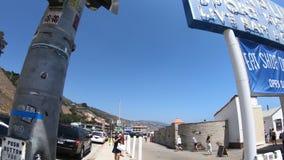 Σημάδι αποβαθρών Malibu απόθεμα βίντεο