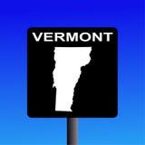 σημάδι Βερμόντ εθνικών οδών Στοκ φωτογραφία με δικαίωμα ελεύθερης χρήσης