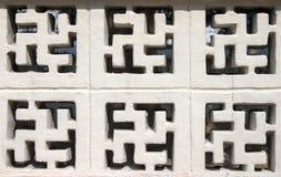 σημάδι βουδισμού τούβλου Στοκ φωτογραφίες με δικαίωμα ελεύθερης χρήσης
