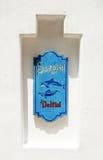 σημάδι δελφινιών Στοκ εικόνα με δικαίωμα ελεύθερης χρήσης