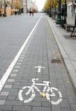 σημάδι διαδρομών ποδηλάτω&n Στοκ Φωτογραφίες