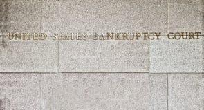 σημάδι δικαστηρίων πτώχευ&sig Στοκ φωτογραφία με δικαίωμα ελεύθερης χρήσης
