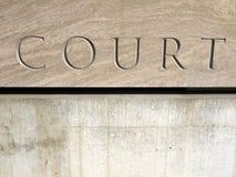 σημάδι δικαστηρίων Στοκ εικόνες με δικαίωμα ελεύθερης χρήσης