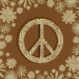 σημάδι ειρήνης δαντελλών Στοκ φωτογραφία με δικαίωμα ελεύθερης χρήσης