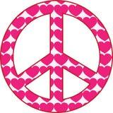 σημάδι ειρήνης καρδιών Στοκ εικόνες με δικαίωμα ελεύθερης χρήσης