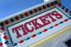 Σημάδι εισιτηρίων Στοκ Εικόνες