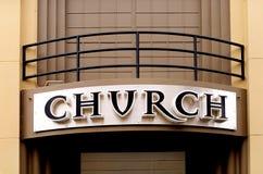 σημάδι εκκλησιών Στοκ Φωτογραφία