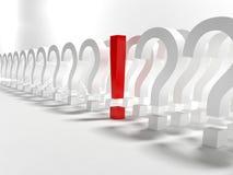 σημάδι ερωτήσεων θαυμασ&ta απεικόνιση αποθεμάτων