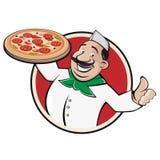 Σημάδι εστιατορίων πιτσών ελεύθερη απεικόνιση δικαιώματος