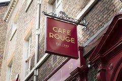 Σημάδι εστιατορίων ρουζ καφέδων στην Υόρκη, Γιορκσάιρ, UK - 4 Αυγούστου 2 στοκ εικόνες