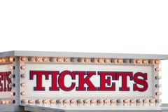 Σημάδι θαλάμων εισιτηρίων Στοκ φωτογραφίες με δικαίωμα ελεύθερης χρήσης