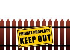 σημάδι ιδιωτικών ιδιοκτησιών διανυσματική απεικόνιση