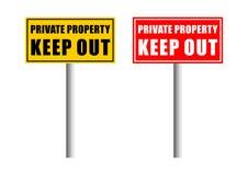 σημάδι ιδιωτικών ιδιοκτη&sig διανυσματική απεικόνιση