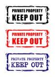 σημάδι ιδιωτικών ιδιοκτη&sig ελεύθερη απεικόνιση δικαιώματος