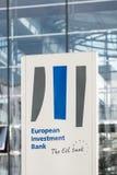 Σημάδι και λογότυπο της Ευρωπαϊκής Τράπεζας Επενδύσεων - πορτρέτο στοκ φωτογραφίες με δικαίωμα ελεύθερης χρήσης