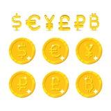 Σημάδι και νομίσματα νομίσματος απεικόνιση αποθεμάτων