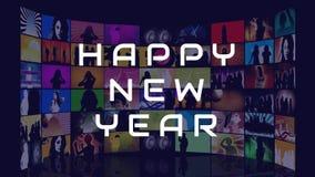 Σημάδι καλής χρονιάς ενάντια στην πολλαπλάσια οθόνη φιλμ μικρού μήκους