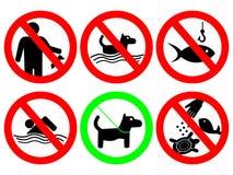 σημάδι κανόνων πάρκων Στοκ Εικόνες