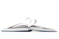 σημάδι καρδιών βιβλίων Στοκ εικόνες με δικαίωμα ελεύθερης χρήσης