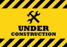 σημάδι κατασκευής κάτω Στοκ εικόνες με δικαίωμα ελεύθερης χρήσης